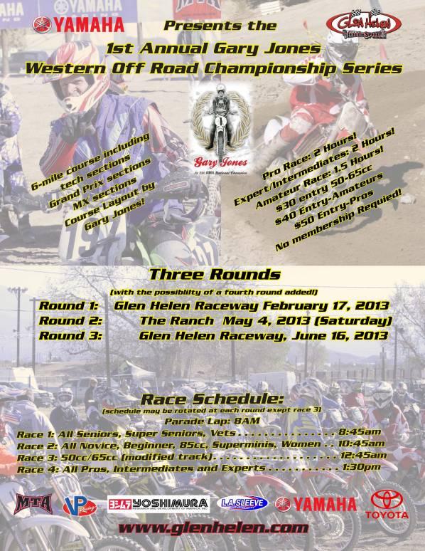 1st Annual Gary Jones Western Off-Road Championship Series 2013