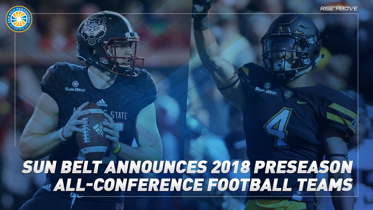 Sun Belt Announces 2018 Preseason All-Conference Football Teams