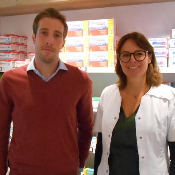 Mikael Tilman  et Emmanuelle Haufroid, Pharmacie Tilman à Bomal