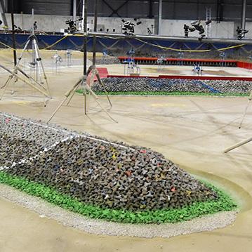 Modèle 3D de HRW pour le projet de l'Extension du port d'Aberdeen utilisant des maquettes ACCROPODE™ I