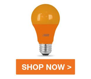 Orange Halloween Light Bulb