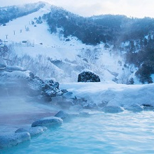 The perfect combination: Japanese skiing and an onsen afterward!