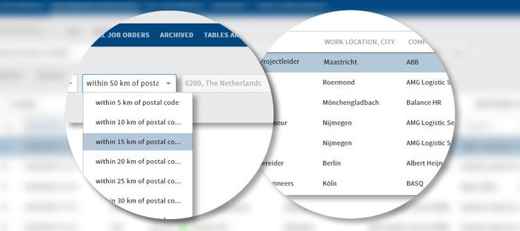 Meer informatie over 'Zoeken op Postcode'