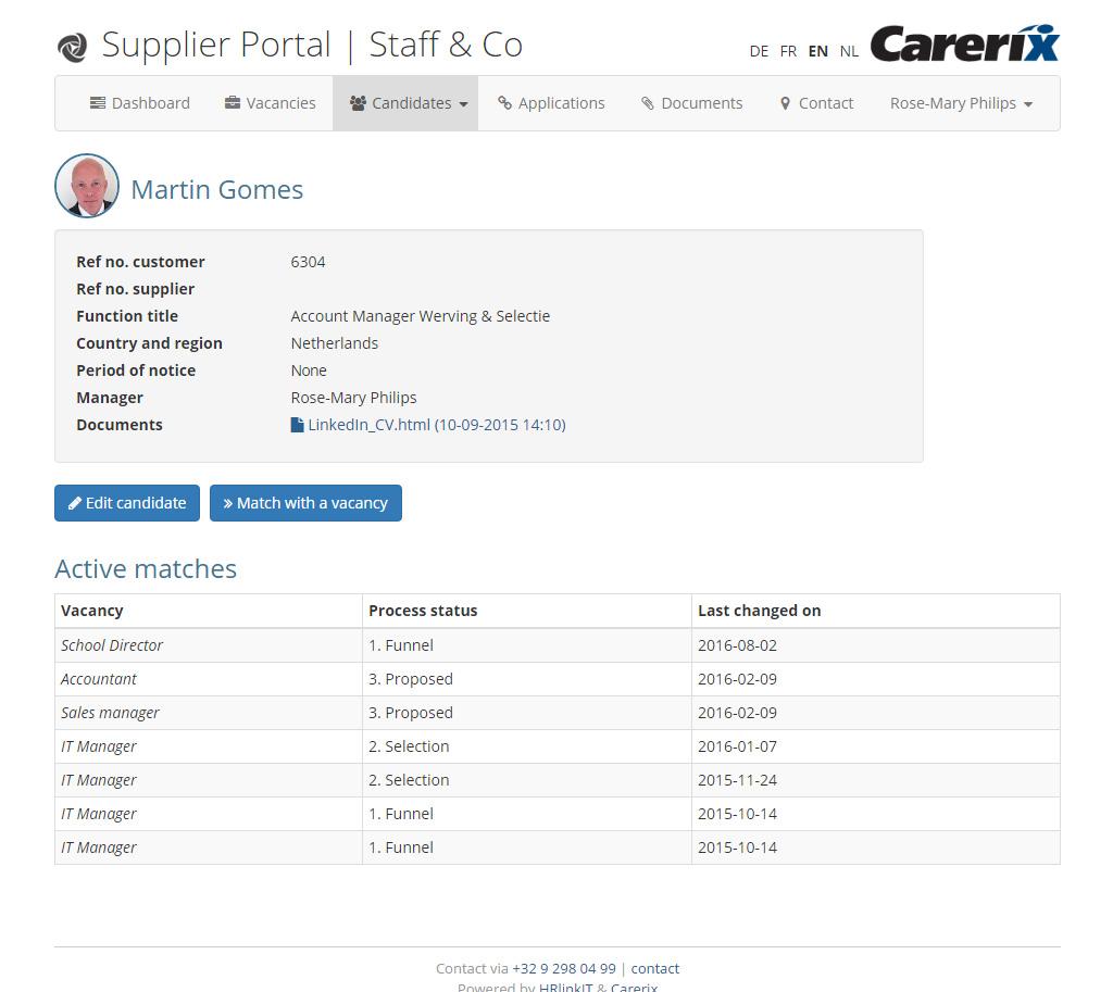 Supplier Portal - Bied uw leveranciers online de mogelijkheid om kandidaten in te schrijven en te matchen op vacatures.