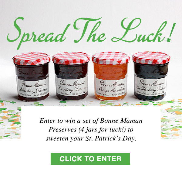 Feeling Lucky? Win the perfect Bonne Maman Jams and Spreads
