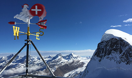 View from Matterhorn visitors centre thing