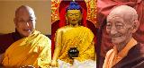 Shakyamuni Budha, Kalu Rinpoche and Lama Norlha Rinpoche