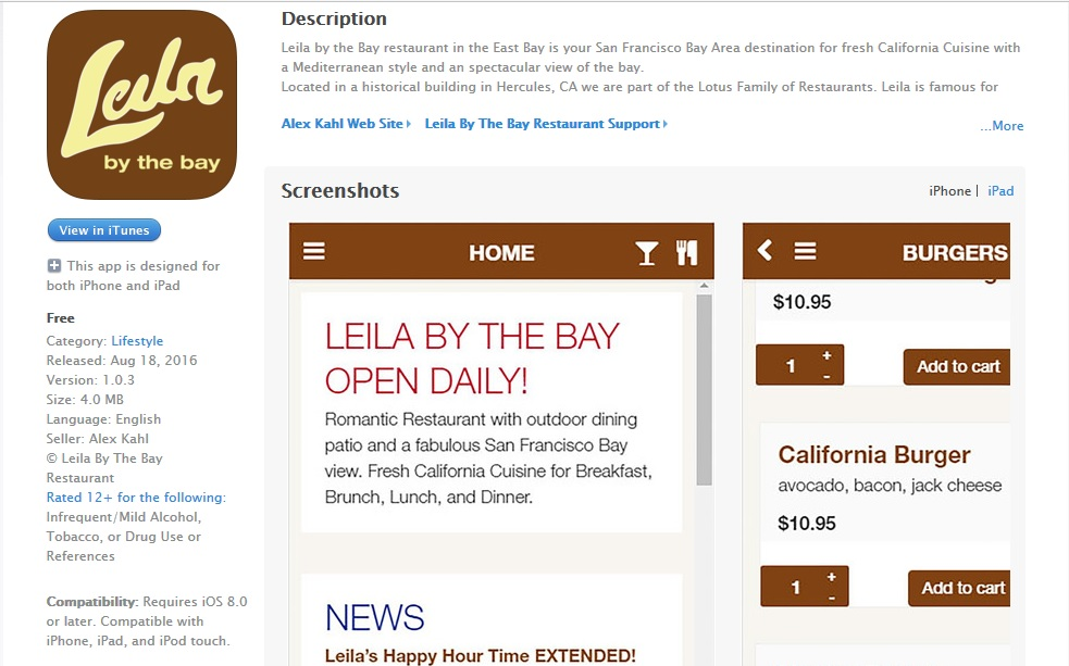 Leila By The Bay App on iTunes