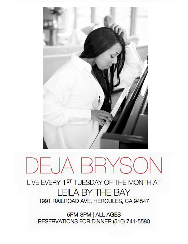 Deja Bryson at Leila By The Bay Restaurant