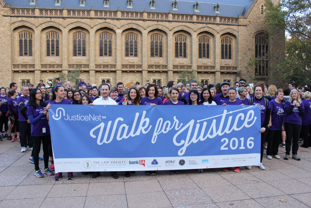 The 2017 Walk for Justice will be 16 May.
