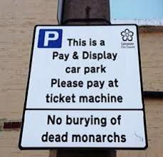 Richard III car park sign