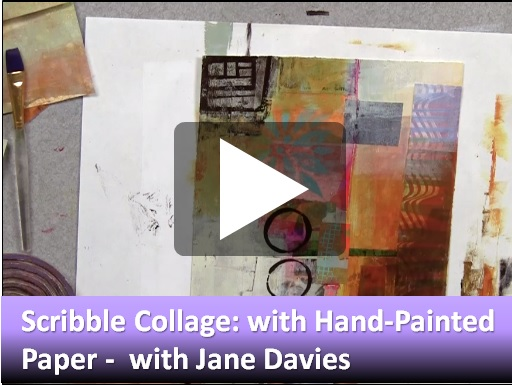 JD1d Scribble Collage: With Hand-Painted Paper with Jane Davies