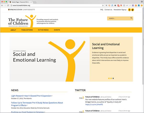 Future of Children website