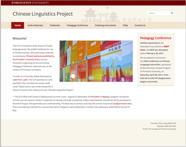 Chinese Linguistics Project