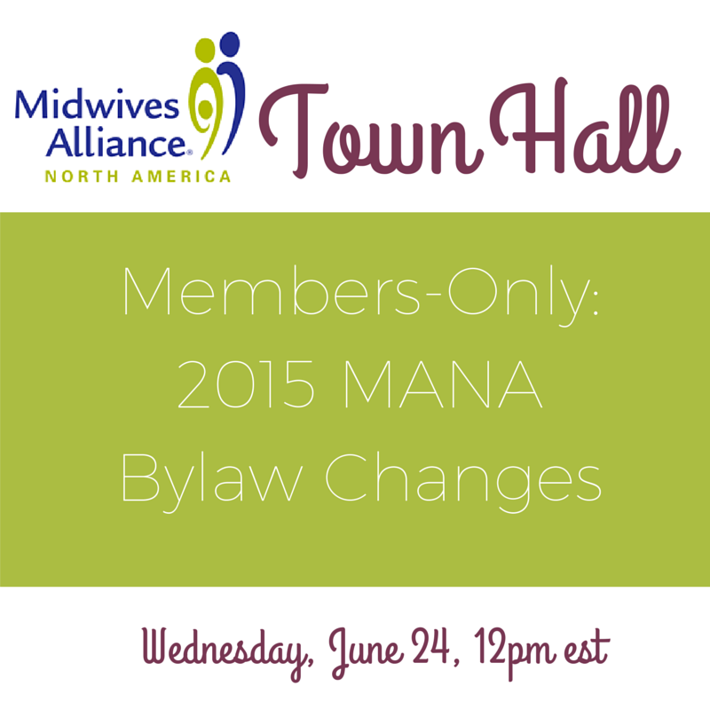 MANA Bylaw Changes Town Hall