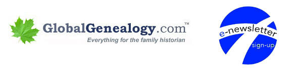 GlobalGenealogy.com Newsletter signup