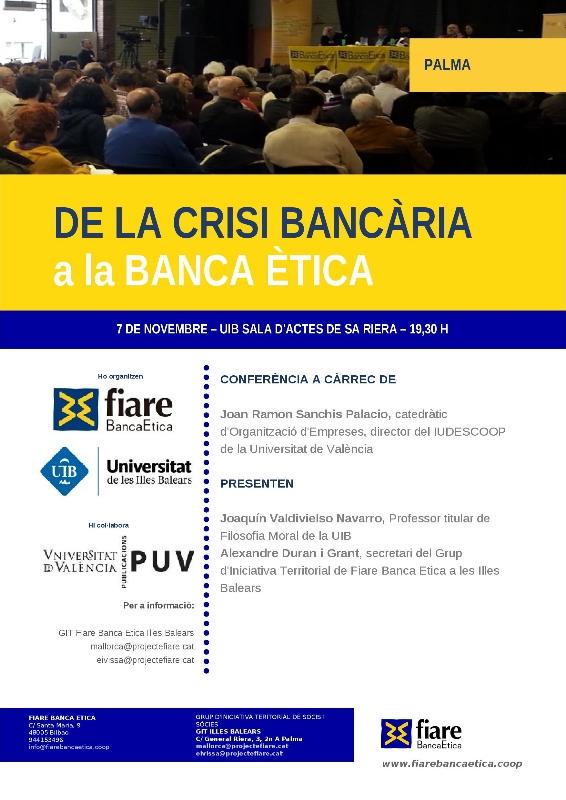 Conferència «De la crisi bancària a la banca ética» (07-11-14)