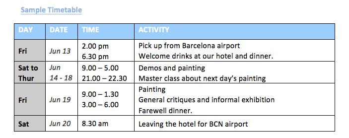 Liu Yi timetable