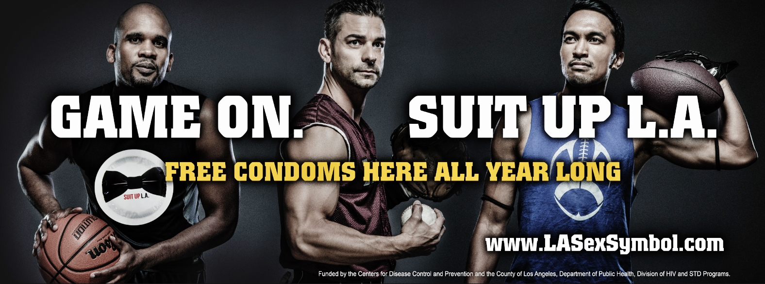 Openly Gay Athletes Suit Up for LA Condom campaign