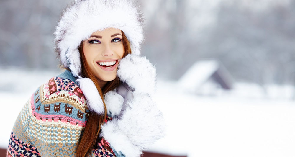 Donna sulla neve