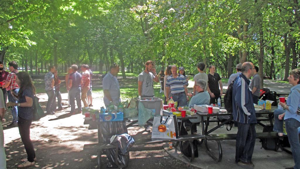 Un pique nique au parc La Faontaine