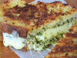 Irish Soda Bread Grilled Cheese with Pesto