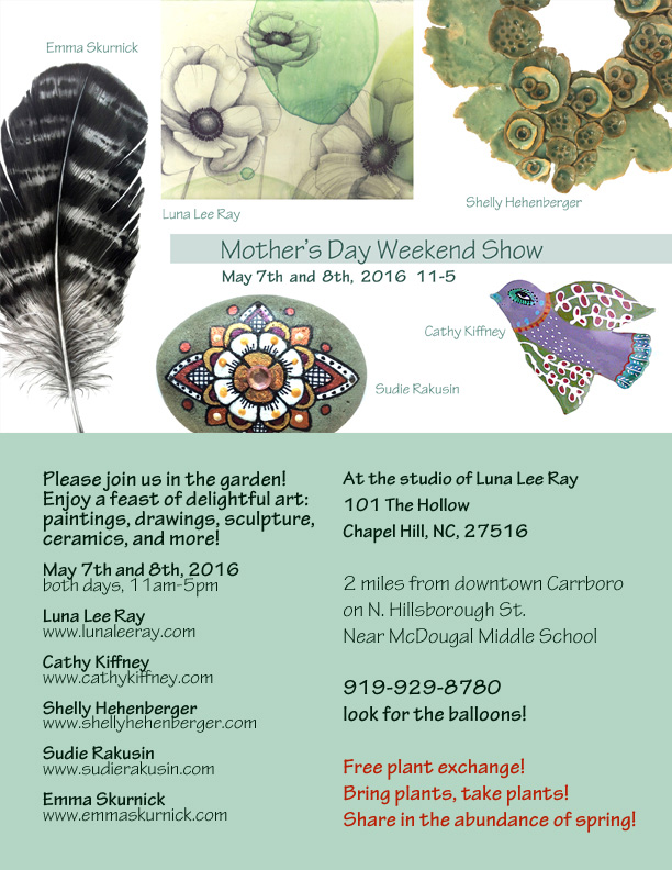 Mother's Day Weekend Art Show and Plant Swap!