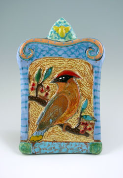 Win this Cedar Waxwing Tile!