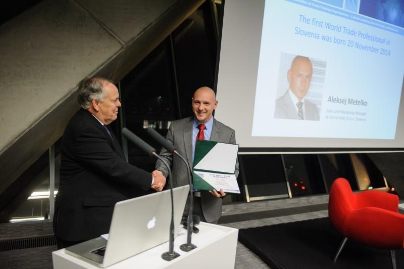 Aleksej Metelko received the ITM Worldwide Diploma