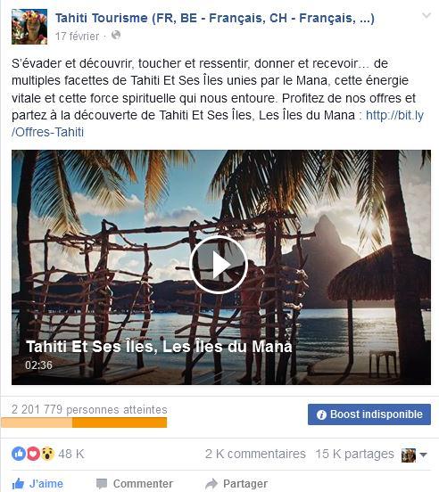 Campagne Tahiti Et Ses Îles sur le Web