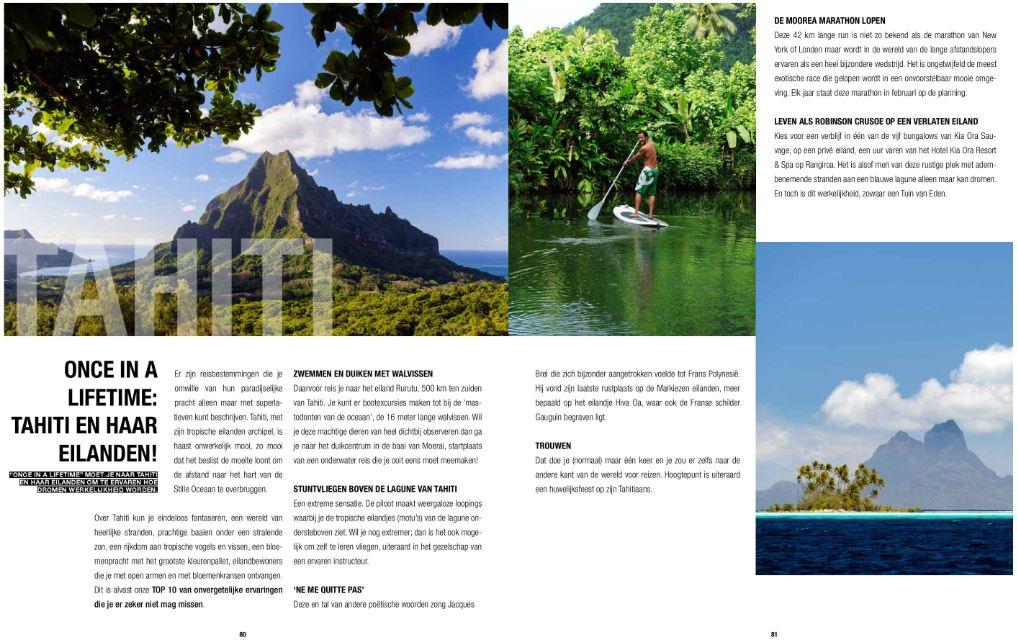 Tahiti Et Ses Îles dans le magazine Waregem Exclusief