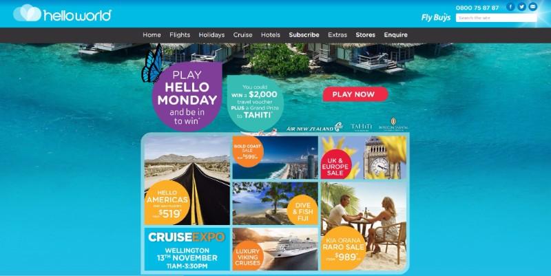 Campagne Tahiti Et Ses Îles en partenariat avec Helloword et Air New Zealand