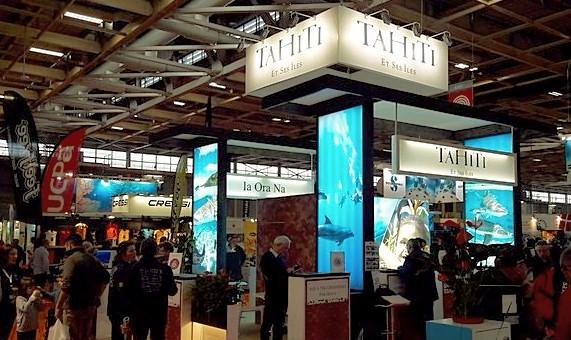 Tahiti Et Ses Îles au salon de la plongée sous-marine à Paris