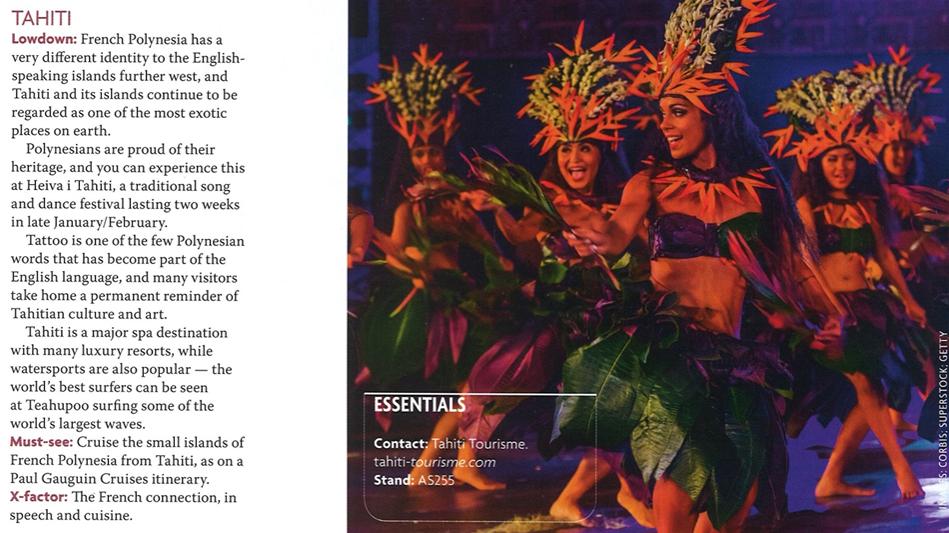 Tahiti Et Ses Îles au World Travelmart au Royaume uni