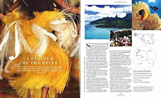 Le Heiva I Tahiti dans l e Harrods Travel Magazine
