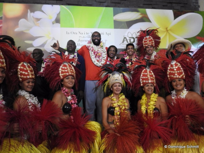 Teddy Riner à Tahiti