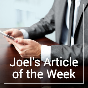 Joel's Article of the Week