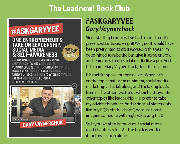 The Leadnow! book club