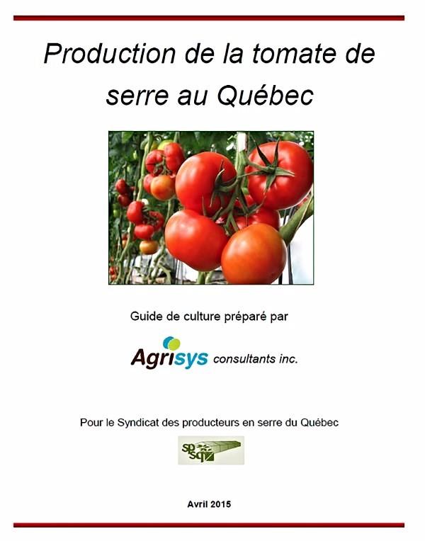 Production de la tomate de serre au Québec