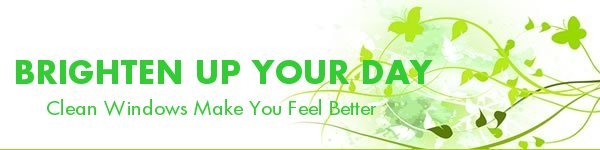 Window Washer Newsletter - Clean Windows Make You Feel Better