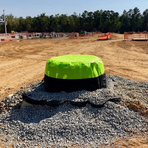 Silt Saver Domes protect drop inlets