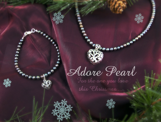 Adore pearl sterling silver jewellery collection