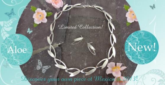 Aloe sterling silver jewellery set
