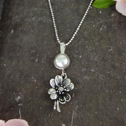 Cherry Blossom Silver & Pearl Pe