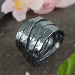Chique Oxidised Silver Ring