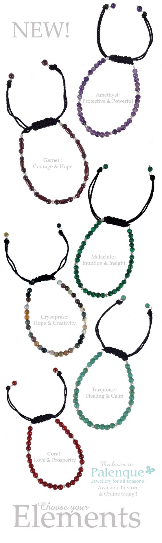 Ladies Silver & Stone Bracelets