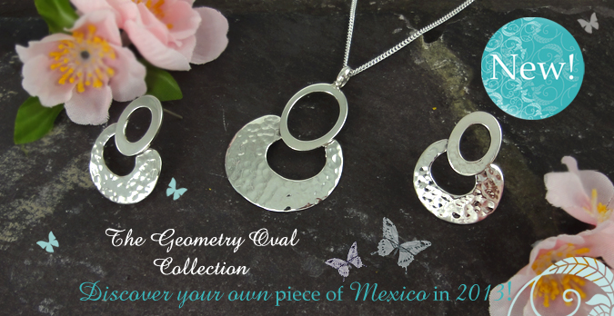 Sterling silver Geometry Oval collection