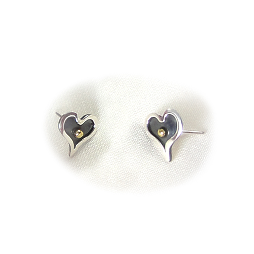 love heart sterling silver earrings