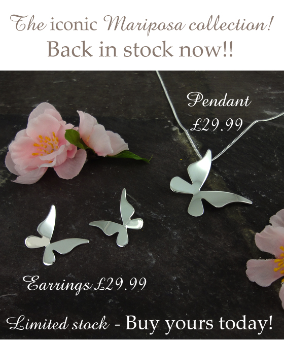 Contemporary Sterling Silver Butterfly Jewellery