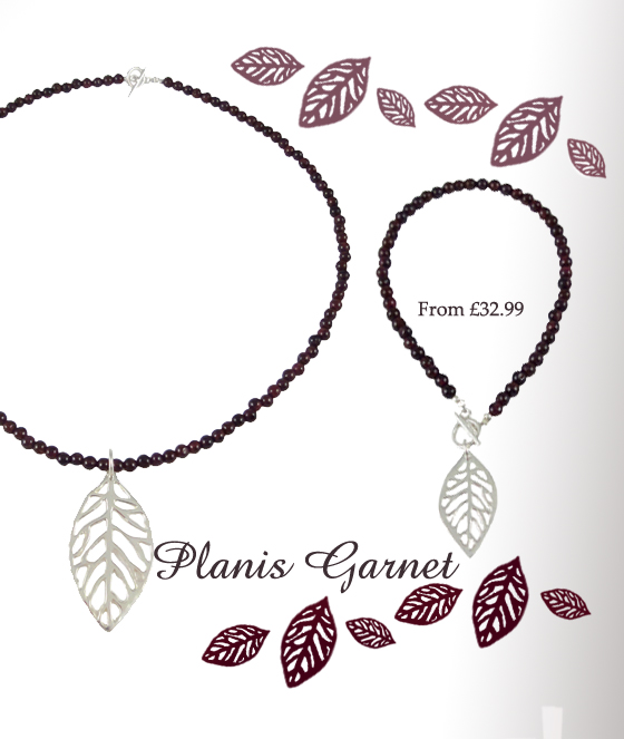 Contemporary Silver Garnet Stone Jewellery